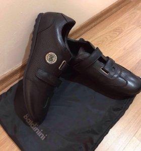 Ботинки кроссовки кожаные кеды baldinini новые
