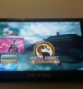 PSP 3008 Slim Black + игры