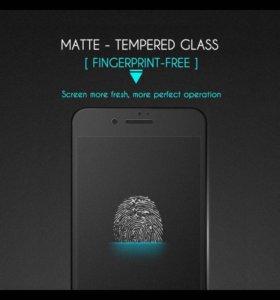 Защитное матовое стекло 3D на iPhone 6+, 6s+