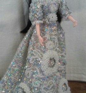 Связанная одежда для куклы Барби(ручная работа)