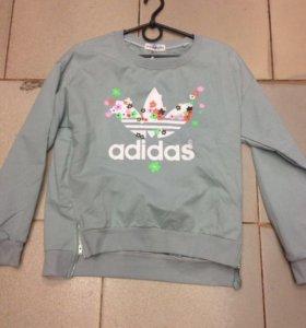 Новый свитшот свитер кофта толстовка бренд adidas