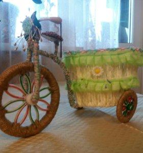 Кашпо велосипед ручной работы