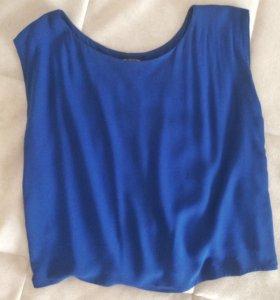 Лёгкая блуза Mango насыщенного синего цвета