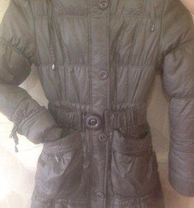 Тёплое зимнее пальто для девочки