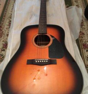 Гитара Fender cd 60 sunburst