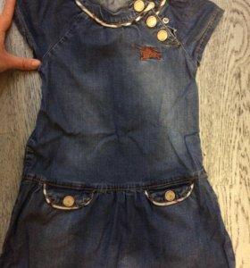 Джинсовое платье детское