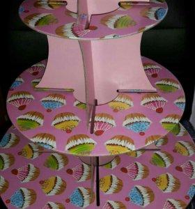 Подставка/этажерка для кексов, капкейков