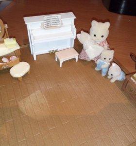 Мебель и игрушки Sylvanian