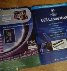 Альбом для наклеек UEFA CHAMPIONS LEAGUE 2012-2013