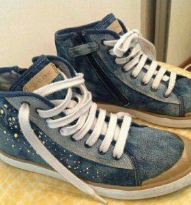 Ботинки джинсовые