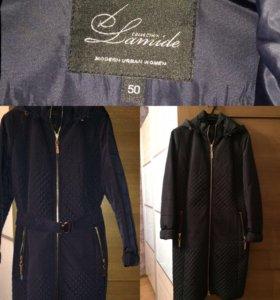 Пальто демисезонное размер 50