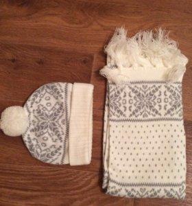 Комплект шарф и шапка ostin