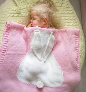 Плед детский зайка шерстяной
