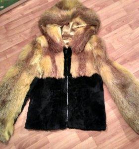Куртка меховая лиса кролик 44-46