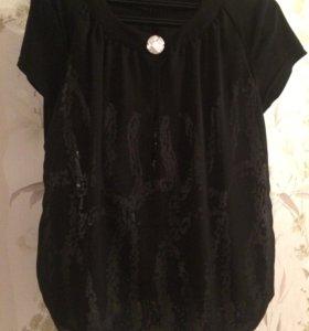 Блузка нарядная с короткими рукавами