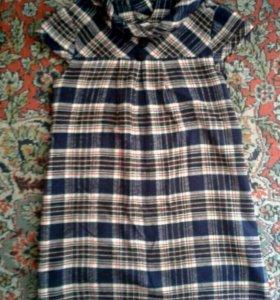 Теплое платье для беременных.