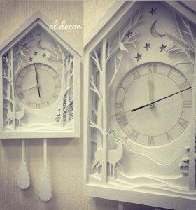"Часы ""Зимний лес"""