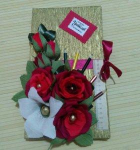 Букет из конфет (подарок учителю)