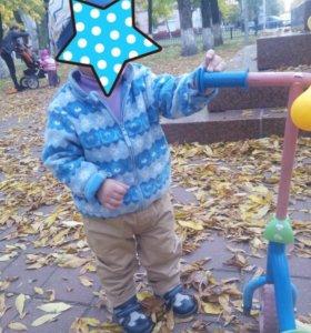 Куртка флисовая для мальчика 74-80 см