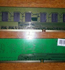 Оперативная память DDR3 2шт по 2Gb