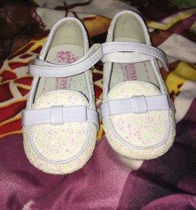 Обувь детская туфельки
