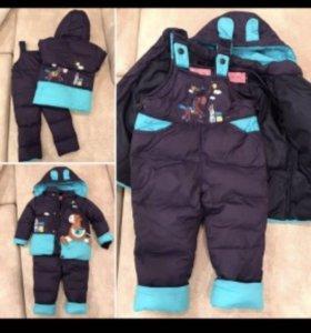 Зимний комплект из курточки и комбинезона