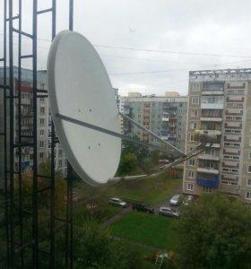 Спутниковая тарелка и ресивер Gi-s1125