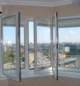 ПВХ окна и балконы, остекление лоджий.