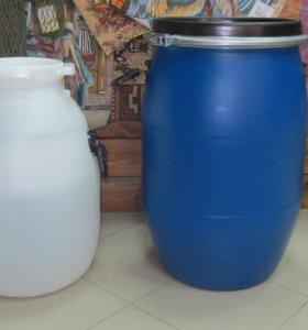 Бочка 40 литров, пластик пищевой