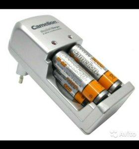 Зарядное уст-тво Camelion и 4 аккумулятораaa 2600