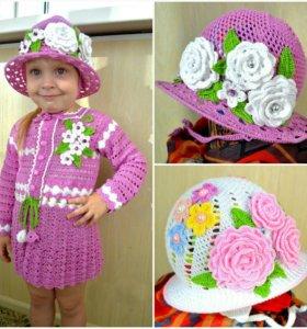 Детские шляпки ручной работы