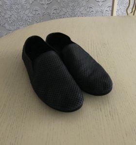 Туфли с перфорацией, темно-серые(почти чёрные)