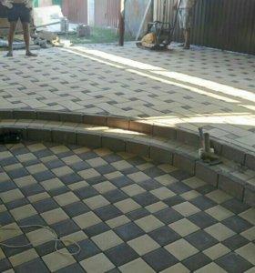 Асфальтированние ,Укладка тротуарной плитки
