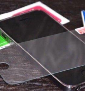 Стекло защитное (бронестекло) для iPhone 4/5/SE/6