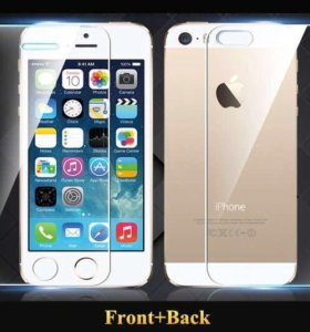 Комплект защитных стёкол (фронт+тыл) iPhone 5/SE