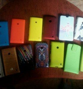 Чехлы Lumia 520,525+подарок!