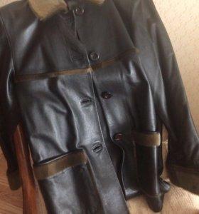 Куртка кожаная отделка нерпа, торг