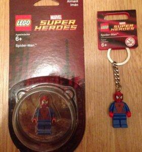 Лего lego брелок и магнит человек-паук