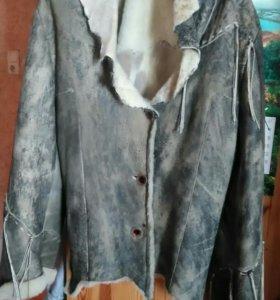 Дубленка-куртка женская р. 48-50 XL