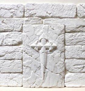 Декоративный камень, кирпич старый белый в наличии