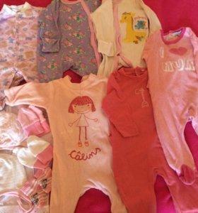 Одежда для новорождённой девочки