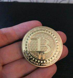 Bitcoin BTC коллекционная монета биткоин