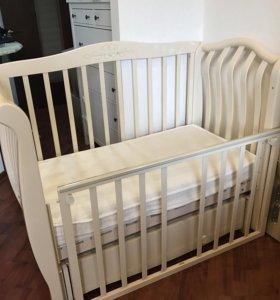 Детская кроватка+матрасик