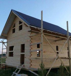 Срубы домов из бруса без отделки