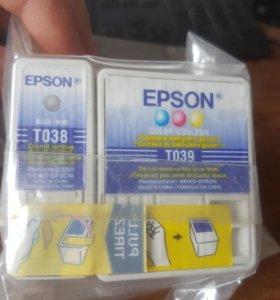 Картридж цветной EPSON T039, T038 для принтера