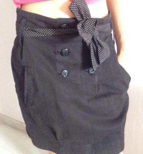 Чёрная джинсовая юбка Stradivarius 38