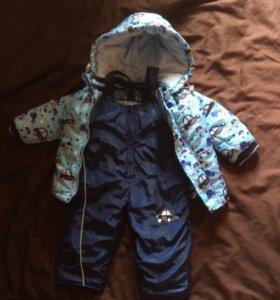 Комплект полукомбинезон/куртка/bony kids/голубой