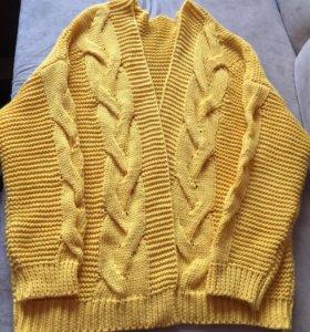 Новый Ярко желтого цвета кардиган