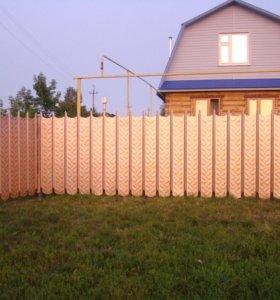 Заборы.Оригинальный забор с пикой из профнастила