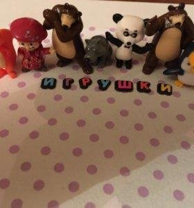 """Киндер игрушки """"Маша и медведь"""""""